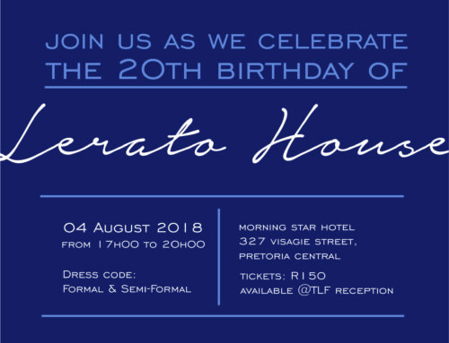 Lerato House is turning 20